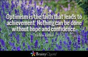 helen keller, optimism, happiness, quote