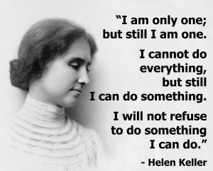 helen keller, happiness, quote