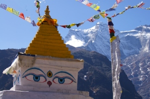 Chorten at Namche Bazaar
