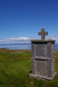 Headstone on the Aran Islands, photo by Z Deacon Blue