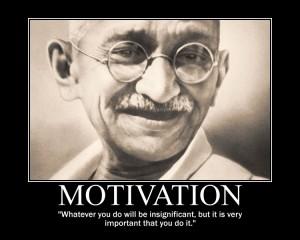 Gandhi motivation