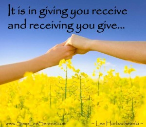 happiness, giving