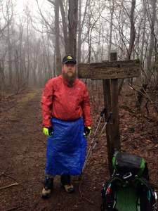 Rev Kane on his first day on the Appalachian Trail