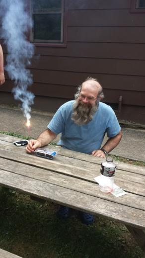 Kingfisher celebrating in Hot Springs.