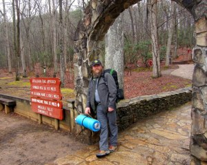 Rev Kane on his arrival at Amicalola Falls State Park