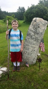 My nephew at the Shay's Rebellion Monument