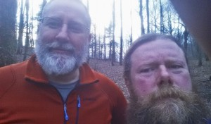 Backtrack and I at the end of one of early days on the trail