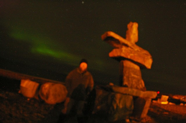 Another attempt at an aurora selfie.