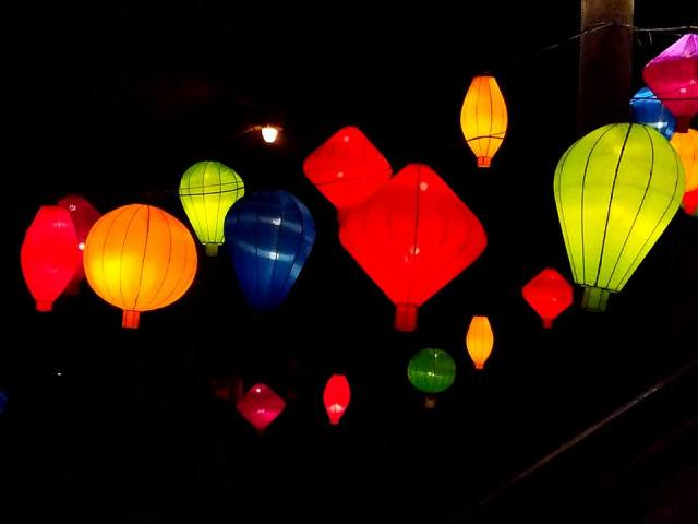 lanterns, photography, lights