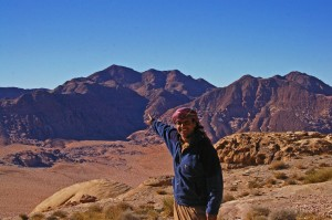 Hevs pointing out the highest peak in Jordan