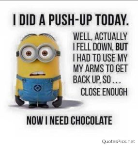 minion, exercise, happiness