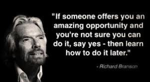 branson, wing it, quote