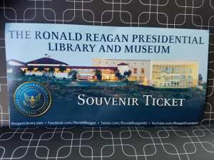 reagan, president, travel