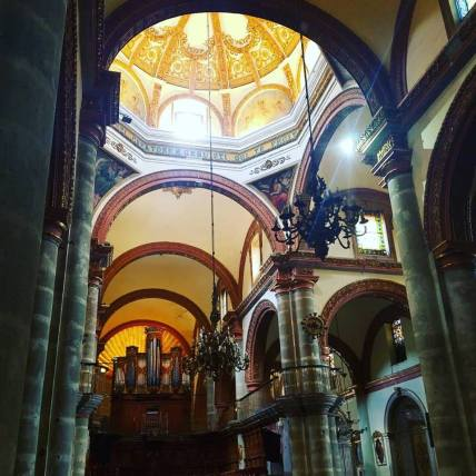 cathedral ceiling and organ