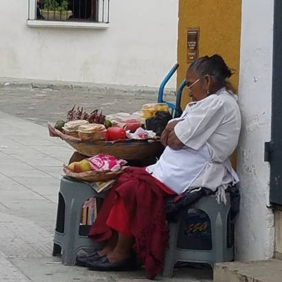sleeping store owner
