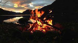 campfire, christmas eve