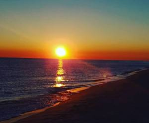 sunset, beach
