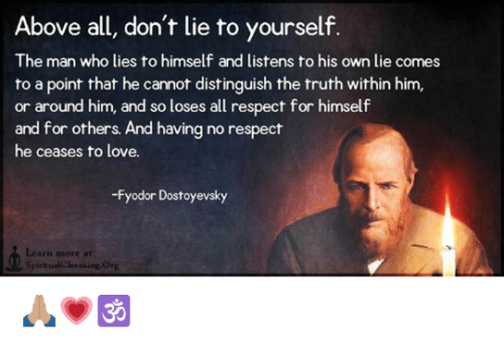lie to yourself quote
