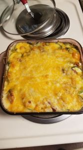 zuchinni au gratin, scalloped zuchinni