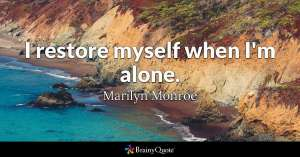 alone quote, marilyn monroe