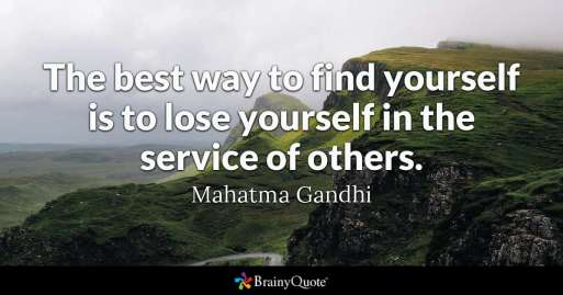 service, happiness, gandhi
