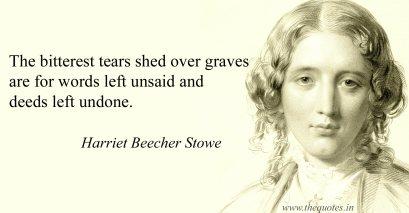 death quote, harriet beacher stowe